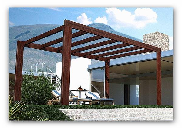 Pergola de madera zaragoza fabricacion montaje - Precio pergola madera ...